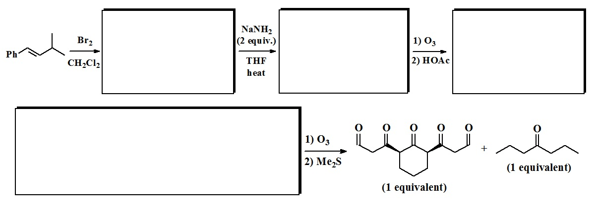 show the correct stereochemistry when necessary