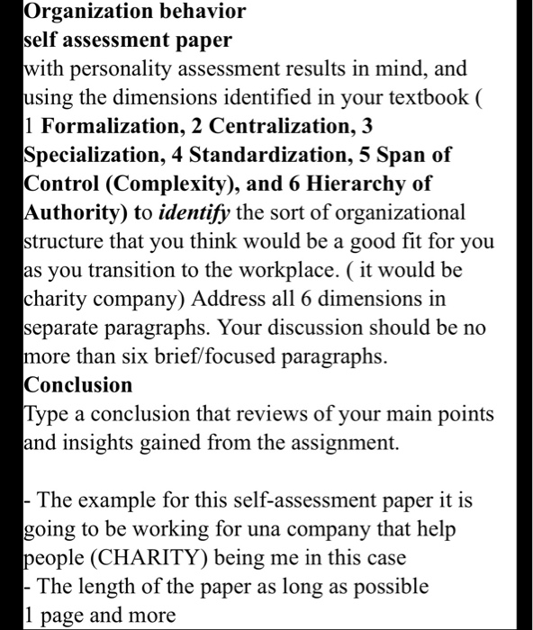 Self Evaluation Essay Example For Work
