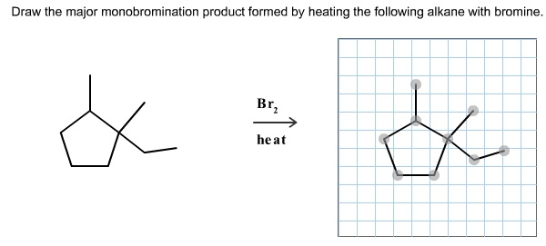 Draw The Major Monobromination Product Formed By