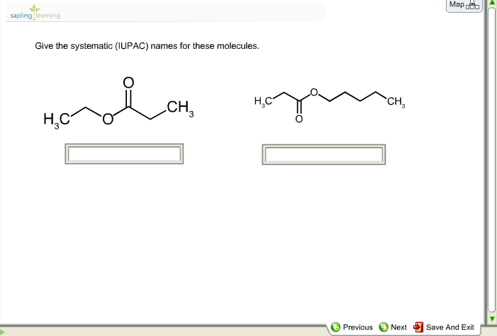 GIve The Systematic IUPAC Names For These Molecules