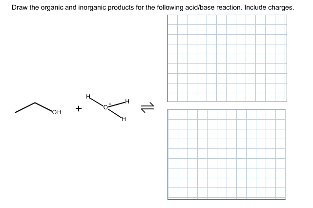Draw The Organic And Inorganic Products For The