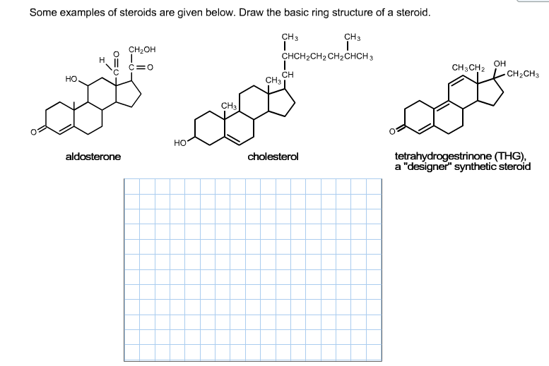 Some Examples Of Steroids Are Given Below. Draw
