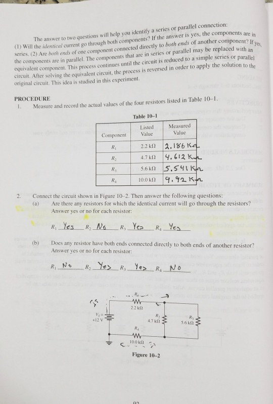 Solved: Series-Parallel Combination Circuits Name Date Cla