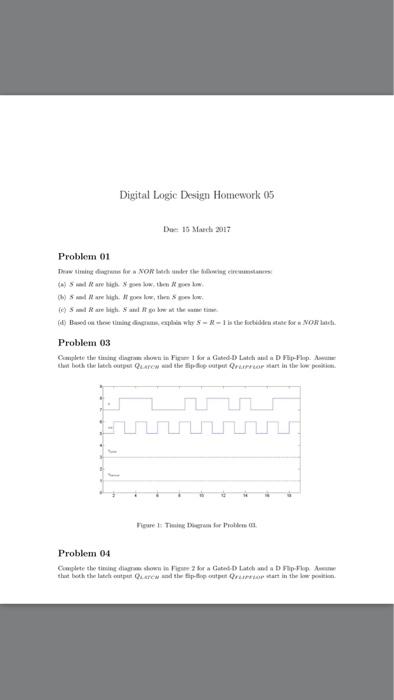 Digital Logic Design Homework 05 Due: 13 March 201