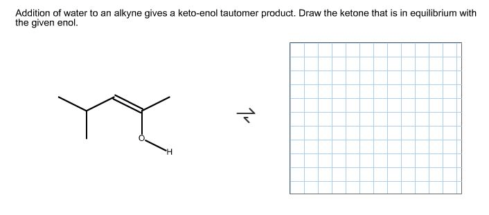 Addition Of Water To An Alkyne Gives A Keto-enol