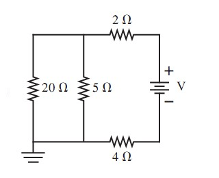 What Is The Current Through The 20 Ohm Resistor