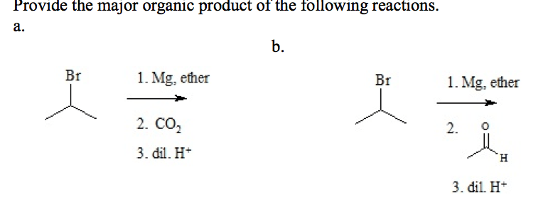 Provide The Major Organic Product Of The Following