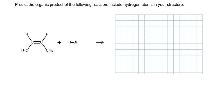 Predict The Organic Product Of The Following Reaction