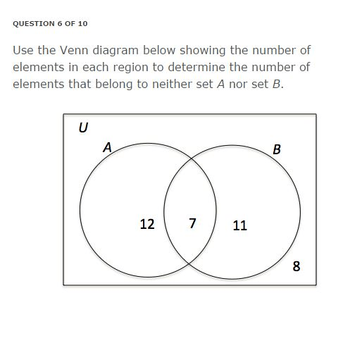 Use The Venn Diagram Below Showing The Number Of