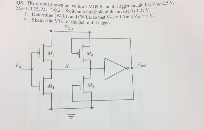 The Circuit Shown Below Is A CMOS Schmitt-Trigger