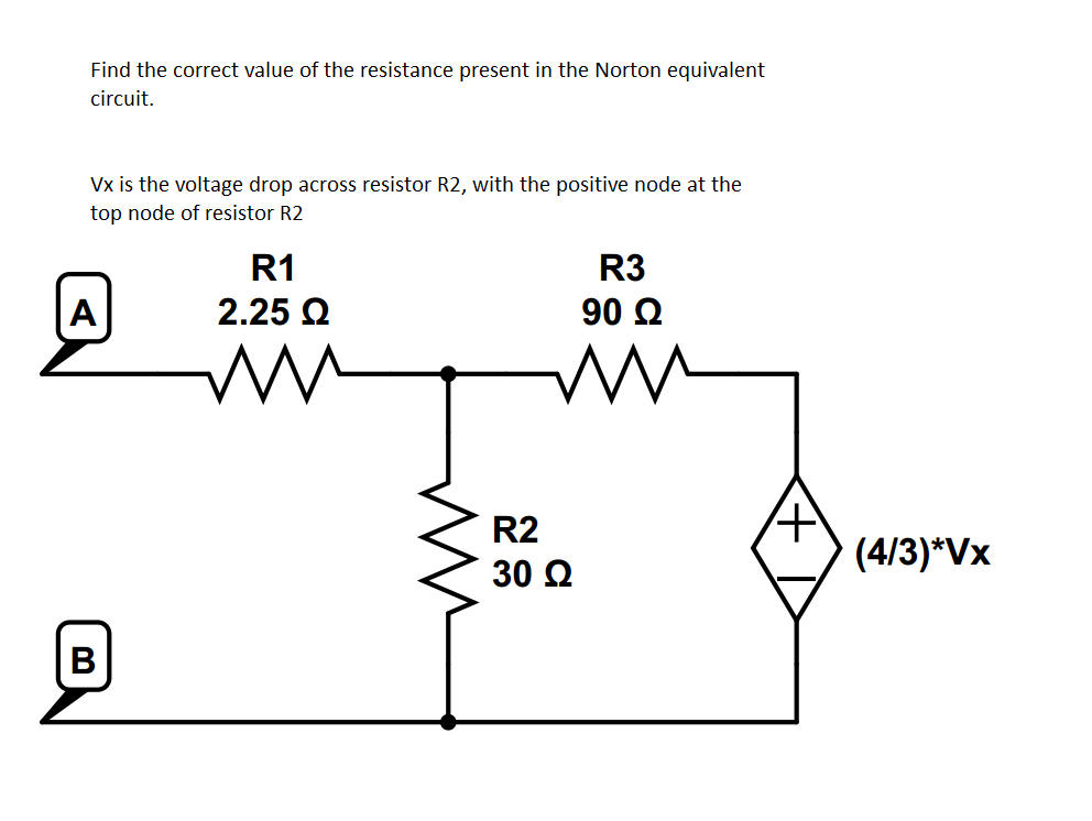 Find The Correct Value Of The Resistance Present