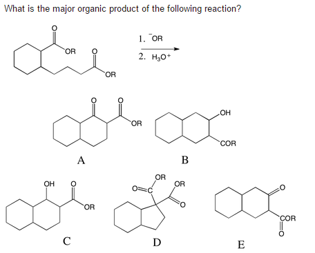 What Is The Major Organic Product Of The Following