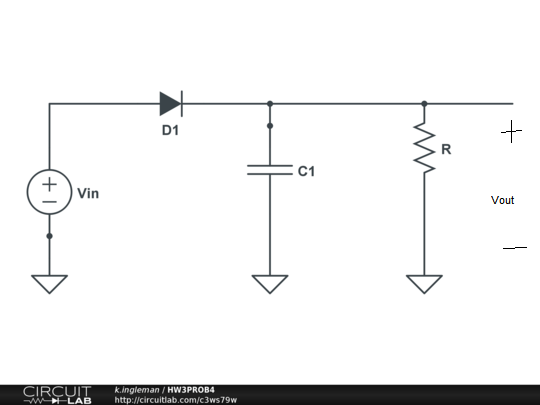 A Half-wave Rectifier Circuit Is Shown With Vin(t)=170*cos