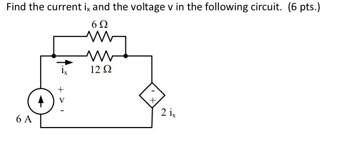 Solved: Find The Current I_x And The Voltage V In The Foll