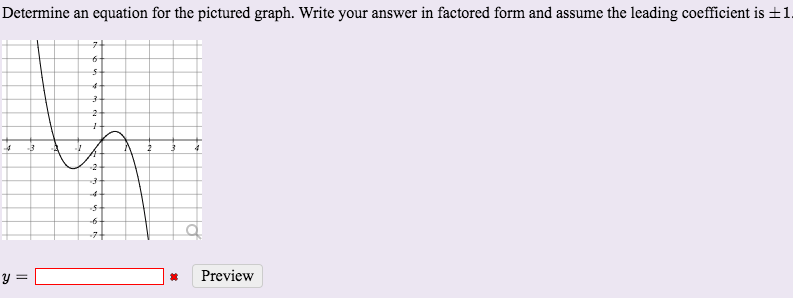 Solved: Determine An Equation For The Pictured Graph. Writ