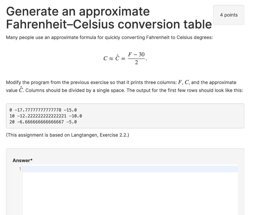 Fitfab Fahrenheit Celsius Table Converter