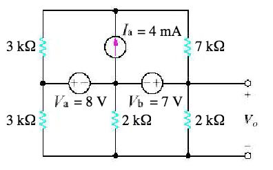 Find Vo In The Circuit In The Figure Below Using