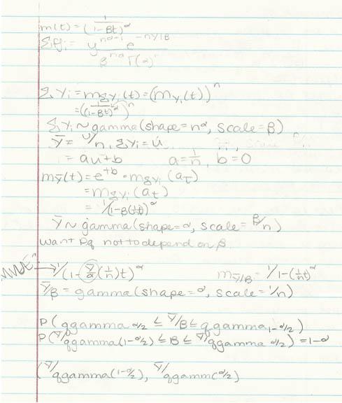 Let Y1; Y2; : : : ; Yn Be I.i.d. From A Gamma Distribution
