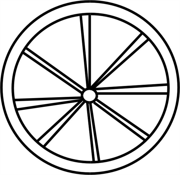 Solved: A wagon wheel is constructed as shown in Fig. E9