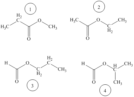 Solved: There are four esters with molecular formula