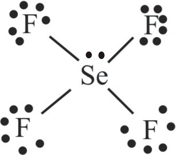 Solved: Write Lewis structures for SeF4 and SeF6. Is the