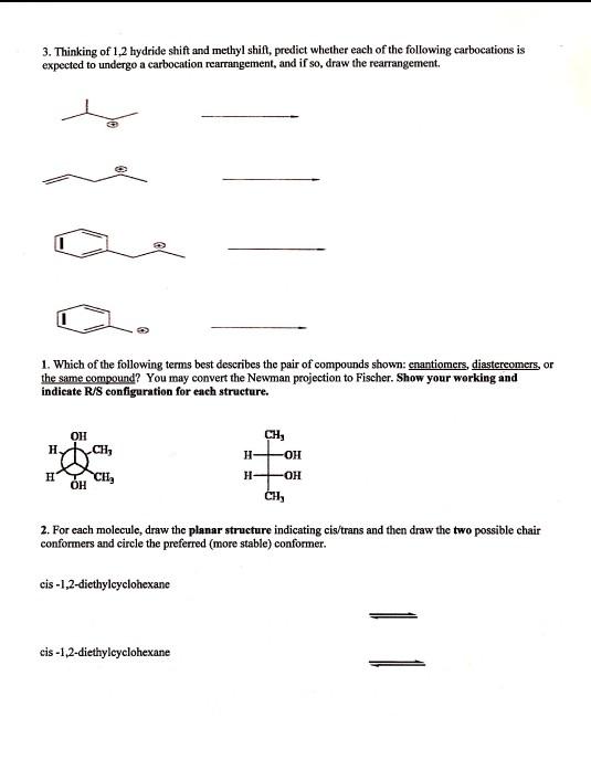 Methyl Shift Vs Hydride Shift : methyl, shift, hydride, Solved:, Thinking, Hydride, Shift, Methyl, Shift,..., Chegg.com