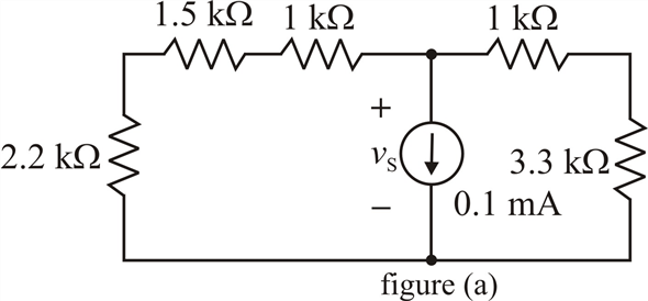 Solved: Find the voltage across the current source in