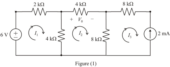 Solved: Use mesh analysis to find Vo in the circuit in Fig