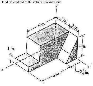 Solved: Find The Centroid Of The Volume Shown Below