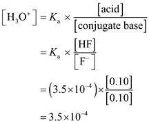 Solved: Using Table for Ka values, compare the pH of a HF