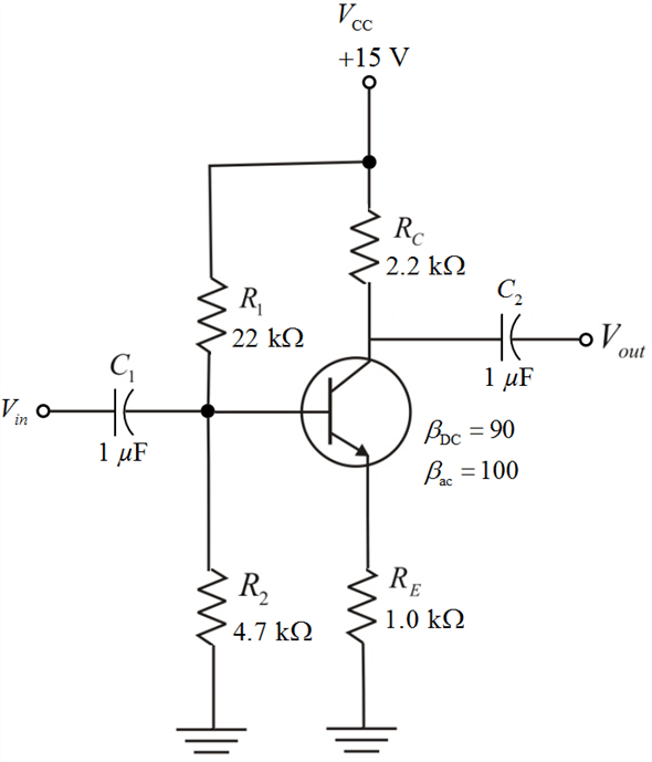 Solved: Draw the dc equivalent circuit and the ac