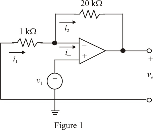Solved: Assuming an ideal op-amp, determine the voltage