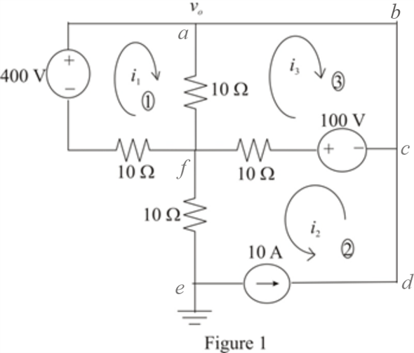 Solved: Apply mesh analysis to find vo in the circuit of