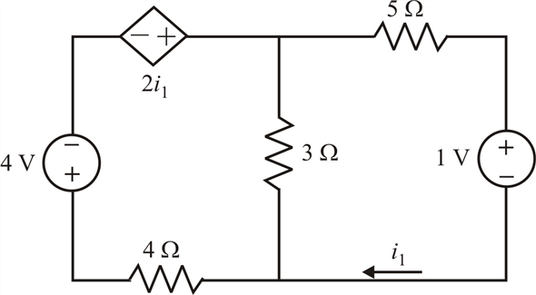 Solved: Determine the power dissipated in the 4 Ω resistor