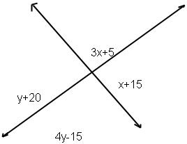 Solve For X And Y. Then Find The Measure Of Each A