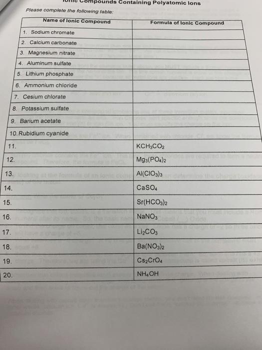 Nomenclature Worksheet 2 Simple Binary Ionic Compounds : nomenclature, worksheet, simple, binary, ionic, compounds, Solved:, Nomenclature, Worksheet, Simple, Binary, Lonic, Comp..., Chegg.com