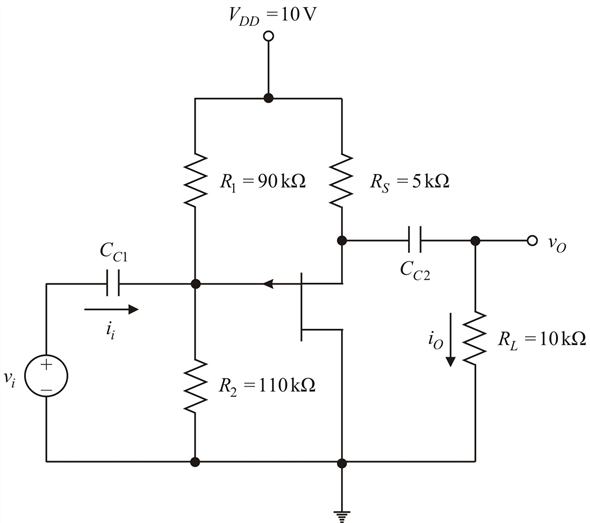 Solved: For the p-channel JFET source-follower circuit in