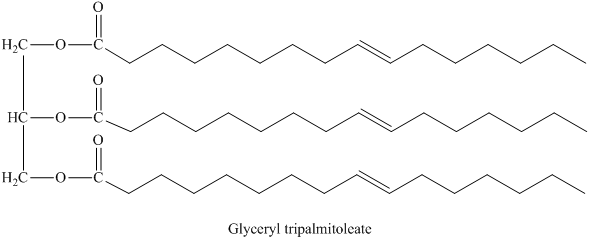 Solved: Which has a higher melting point, glyceryl