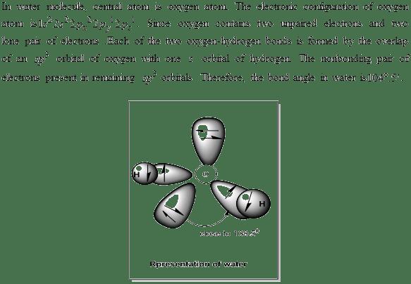 Solved: Draw orbital representations of bonding in water