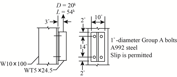 Solved: Eccentric Bolted Connections: Shear Plus Tension