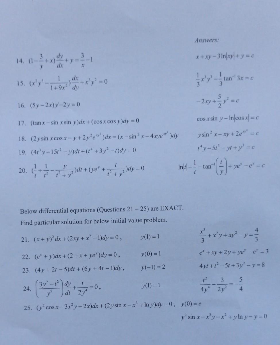 KNF1023 - Engineering Mathematics II Tutorial 3 Ex...   Chegg.com