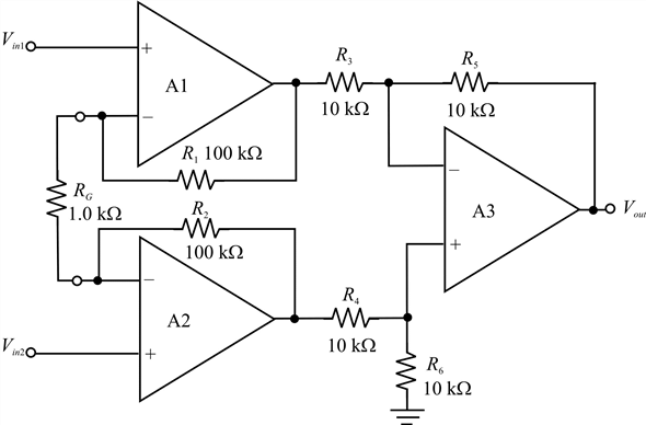 Solved: Instrumentation AmplifiersThe following voltages