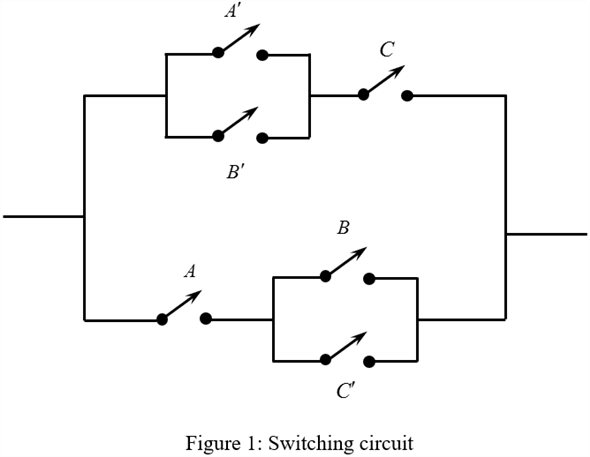 Solved: For the following switching circuit, find the