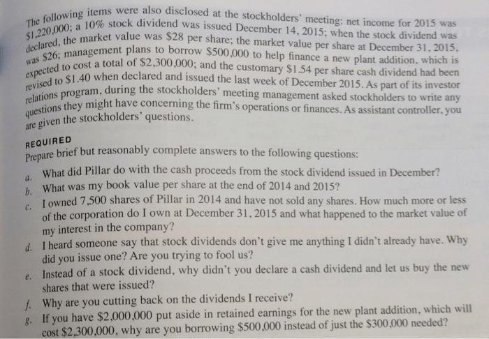Solved: C11-63. Understanding Shareholders' Meeting, Manag
