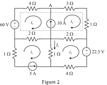 Solved: Apply mesh analysis to the circuit in Fig. 3.85