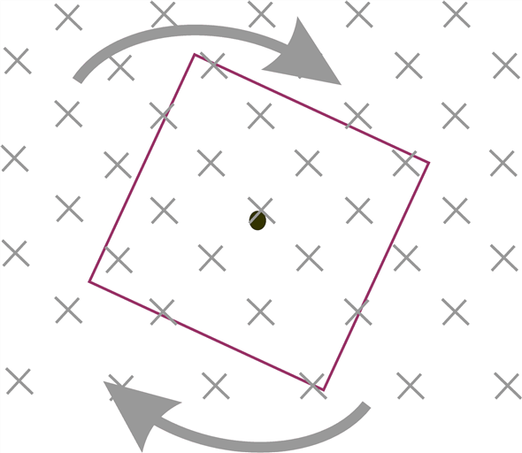 Solved: In Figure Q25.27, a square loop is rotating in the
