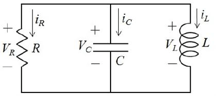Solved: For The Parallel RLC Circuit Shown Below, Determin