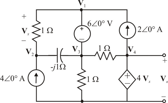 Solved: Use nodal analysis to find Vo in the circuit in