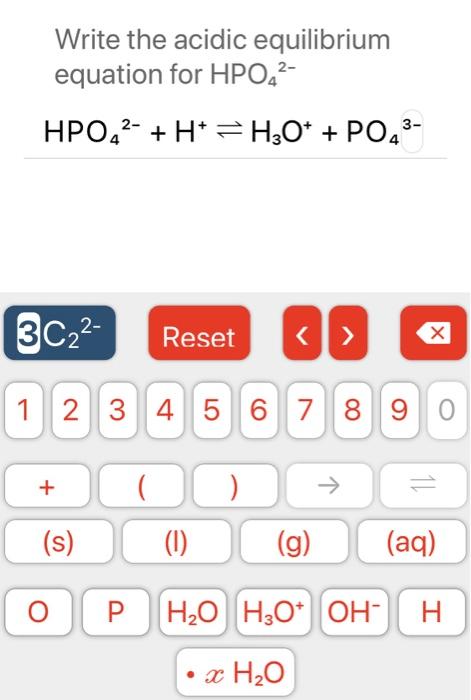 Hpo4 2- : Solved:, Write, Acidic, Equilibrium, Equation, HPO42-, Chegg.com