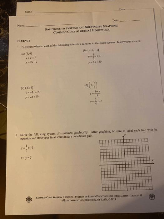 Common Core Algebra 1 Answer Key : common, algebra, answer, Linear, Equation, Solving, Review, Common, Algebra, Homework, Answer, Tessshebaylo